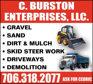 Gravel, Sand, Dirt & Mulch, Skid Steer Work, Driveways, Demolition